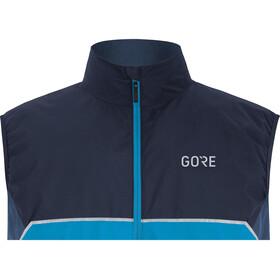 GORE WEAR R7 Partial Gore-Tex Infinium Chaleco Hombre, dynamic cyan/orbit blue